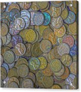The Color Of Copper Money Acrylic Print