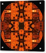 The Color Orange Mandala Abstract Acrylic Print