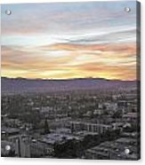 The Colors Of The Sky Over San Jose At Sunset Acrylic Print by Ashish Agarwal