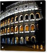 The Colosseum At Night Acrylic Print