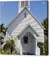 The Community Chapel Of Melbourne Beach Florida Acrylic Print