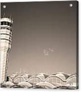 The Control Tower And Acrylic Print by Stephen Alvarez