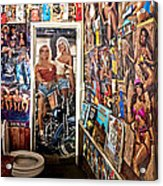 The Coolest Men's Room West Of The Pecos Acrylic Print
