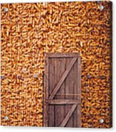 The Corn Crib Acrylic Print