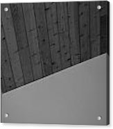 The Corner In Black And White Acrylic Print