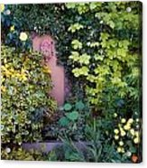 The Courtyard Garden, Fairfield Lodge Acrylic Print by The Irish Image Collection