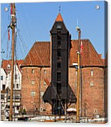 The Crane In Gdansk Acrylic Print