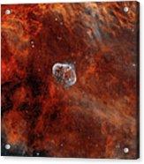 The Crescent Nebula With Soap-bubble Acrylic Print