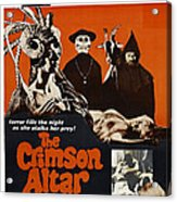 The Crimson Cult, U.s Title Aka The Acrylic Print by Everett