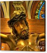 The Crucifiction Of Jesus Of Nazareth Acrylic Print by Lee Dos Santos