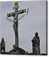 The Crucifix And Calvary - Prague Acrylic Print