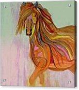 The Dancing Beautiful Lady Acrylic Print