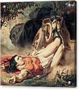 The Death Of Hippolyte Acrylic Print