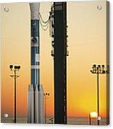 The Delta II Rocket On Its Launch Pad Acrylic Print