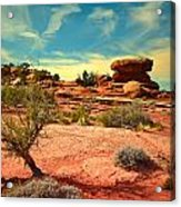 The Desert And The Sky Acrylic Print