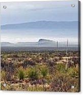 The Desert Mists And Fog Acrylic Print