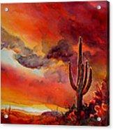 The Desert Acrylic Print