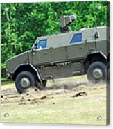 The Dingo 2 In Use By The Belgian Army Acrylic Print