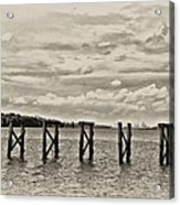 The Disappearing Pier Acrylic Print