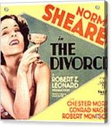 The Divorcee, Norma Shearer, 1930 Acrylic Print by Everett