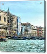 The Doge's Palace On The Grand Canal Acrylic Print