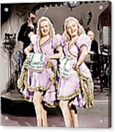 The Dolly Sisters, From Left Betty Acrylic Print
