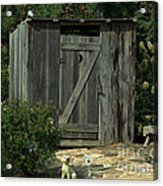 The Double Seat Outhouse Acrylic Print