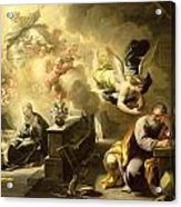 The Dream Of Saint Joseph Acrylic Print by Luca Giordano
