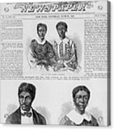 The Dred Scott Family On The Front Page Acrylic Print by Everett
