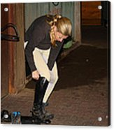 The Dressage Boots Acrylic Print