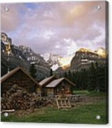 The Elizabeth Parker Hut, A Log Cabin Acrylic Print