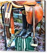 The English Saddle Acrylic Print