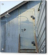 The Entry To A Metal Shed On A Sawmill Acrylic Print