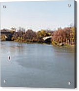 The Erie Canal Crossing The Genesee River Acrylic Print