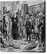The Execution Of The Inca, 1533 Acrylic Print