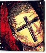The Face Is Sowing Fertile Shadow Of The Cross Acrylic Print
