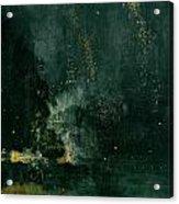 The Falling Rocket Acrylic Print by James Abbott Whistler