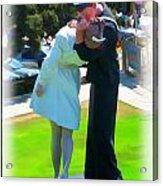 The Famous Kiss Acrylic Print