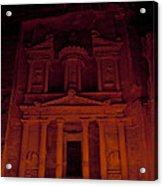 The Famous Treasury Lit Up At Night Acrylic Print