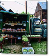 The Farmer's Truck Acrylic Print by Paul Ward