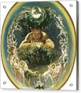 The Faun And The Fairies Acrylic Print by Daniel Maclise