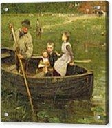 The Ferry Acrylic Print by Edward Stott