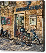 The Ferry Ticket Office Corfu Croatia Acrylic Print