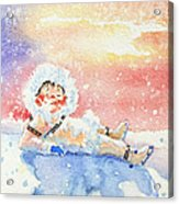 The Figure Skater 6 Acrylic Print