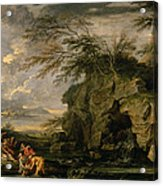 The Finding Of Moses Acrylic Print by Salvator Rosa