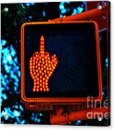 The Finger Acrylic Print