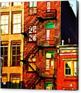 The Fire Escape Acrylic Print