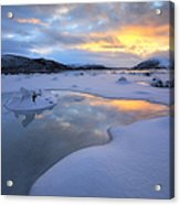 The Fjord Of Tjeldsundet In Troms Acrylic Print