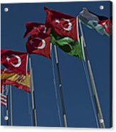 The Flags Of The Participating Nations Acrylic Print