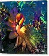 The Flamingo Of My Dreams Acrylic Print by Doris Wood